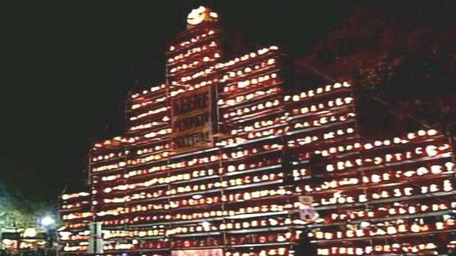 The city of Keene fell short of breaking the world record for having the most pumpkins lit at one time.