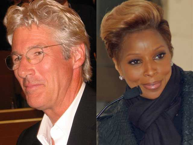 7) Richard and Mary(Pictured: Actor Richard Gere and performing artist Mary J. Blige)