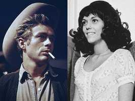 4) James and Karen(Pictured: Actor James Dean and Singer Karen Carpenter)