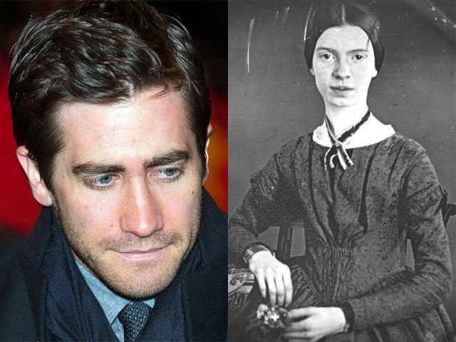 8) Jacob and Emily(Pictured: Actor Jake Gyllenhaal and author Emily Dickinson)