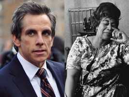 7) Benjamin and Ella(Pictured: Actor Ben Stiller and singer Ella Fitzgerald)