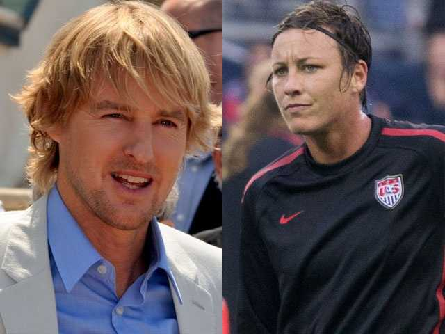 6) Owen and Abigail(Pictured: Actor Owen Wilson and soccer star Abby Wambach)