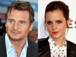 3) Liam and Emma(Pictured: Actor Liam Neeson and actress Emma Watson)