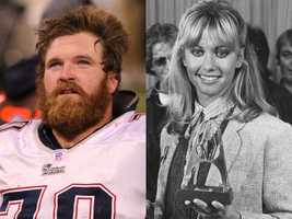 2) Logan and Olivia(Pictured: Patriots offensive lineman Logan Mankins and actress Olivia Newton-John)
