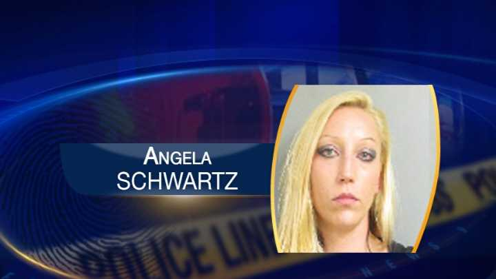 Mug shot for Angela Schwartz, accused of stealing and trying to pawn two Rolex watches