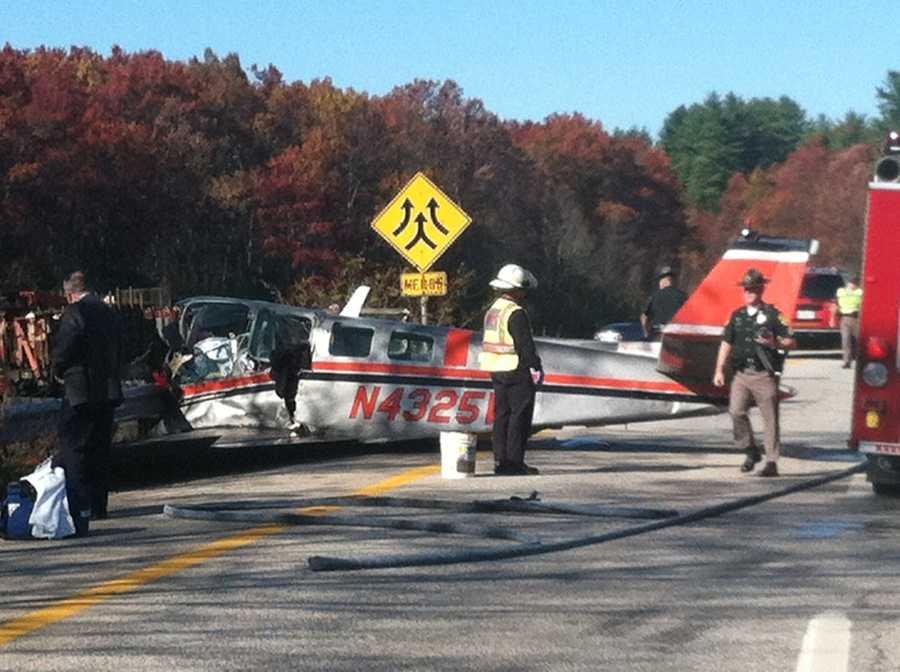 Two people were killed in a plane crash near I-93 in Hooksett on Thursday.