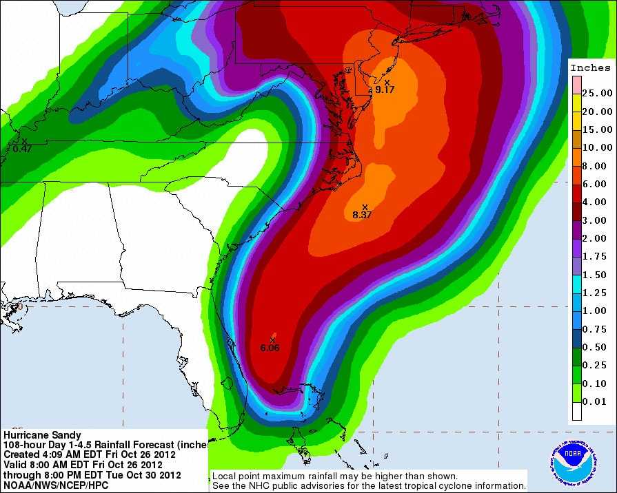Here is the 5-day potential for rainfall. NOAA maps for rainfall do not extend into New Hampshire just yet.