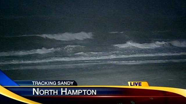 Ray Brewer live in North Hampton as rain, wind from Hurricane Sandy arrives