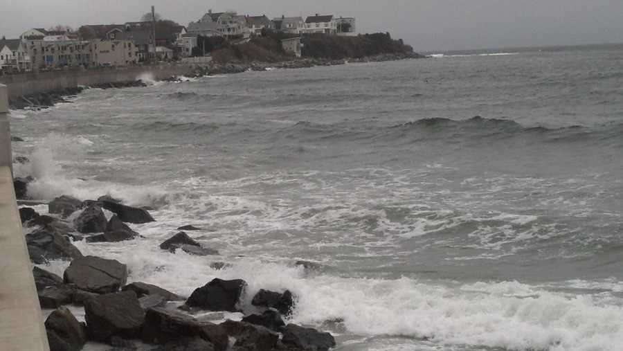 The waves at Hampton Beach.
