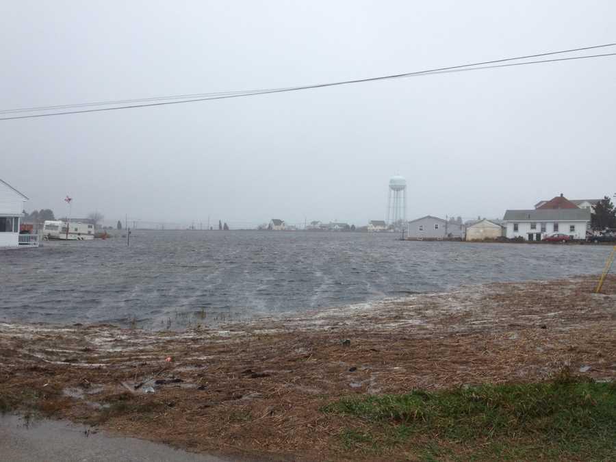 Flooding on Garland Street in Hampton.