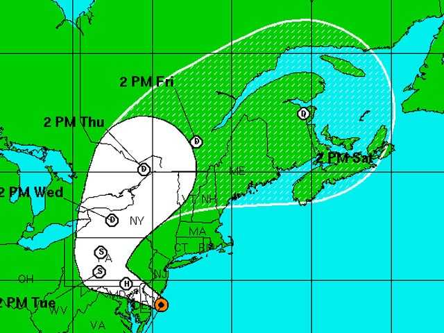 Check out the latest tracking maps as Hurricane Sandy moves ashore.