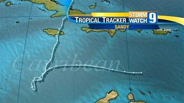 Sandy began as Tropical Depression 18 on Oct. 22.
