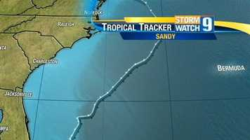Sandy then continued its trek around the East Coast.