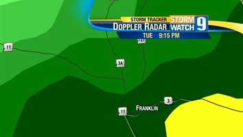 Here's a closer look at the radar as the storm moved through Franklin.
