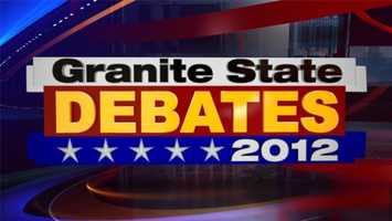 The New Hampshire candidates for governor, Democrat Maggie Hassan and Republican Ovide Lamontagne, participated in the Granite State Debate Thursday night at St. Anselm College.
