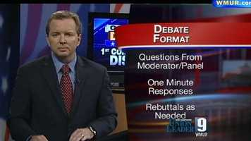 News 9's Josh McElveen moderated the debate the first congressional district candidates.