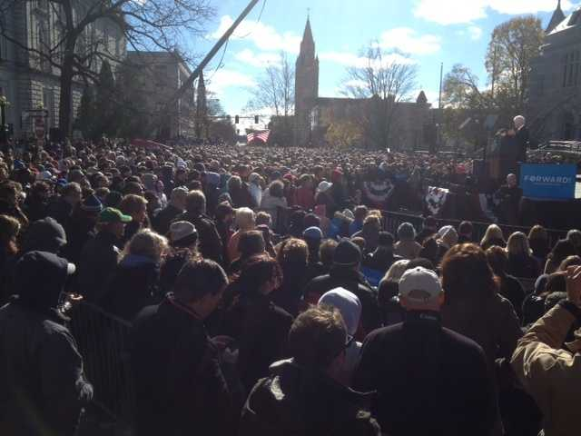 An estimated 14,000 people turned out for the event.