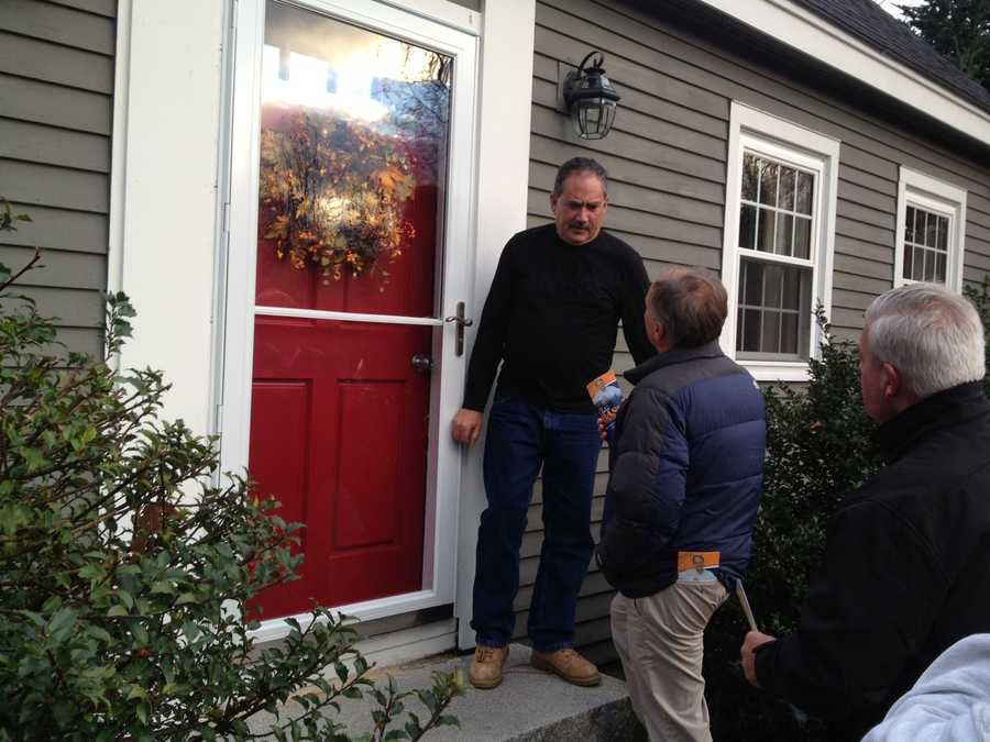 Charlie Bass knocking on doors.