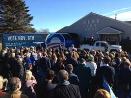 Maggie Hassan with Clinton and Shaheen.