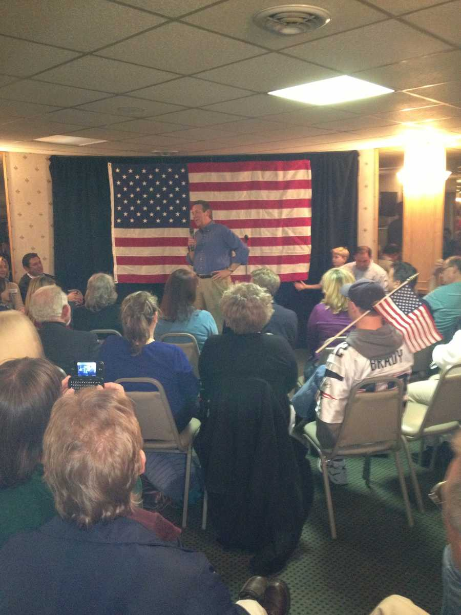 Sunday night, Ovide Lamontagne campaigned with Sen. John McCain.