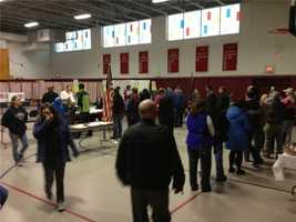 Voters in Auburn at around 8 a.m.