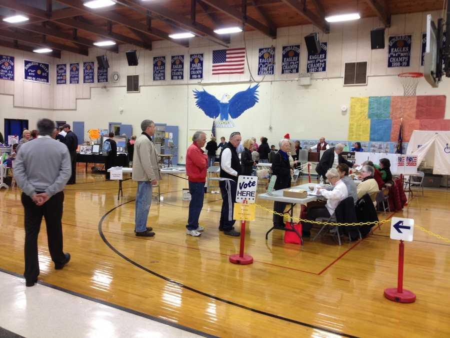Voting in Dunbarton.