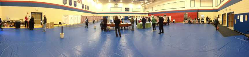 A polling location in Weare.