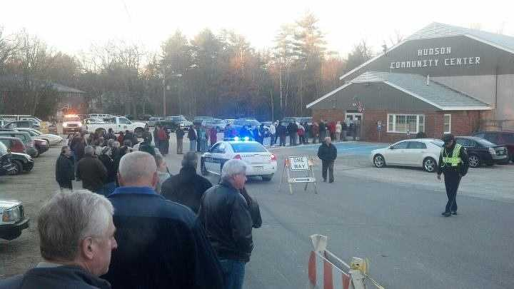 A very long voting line in Hudson.