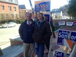 Charlie Bass getting ready to vote in Peterborough.