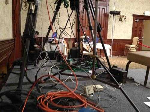 Media is setting up at Hassan victory HQ
