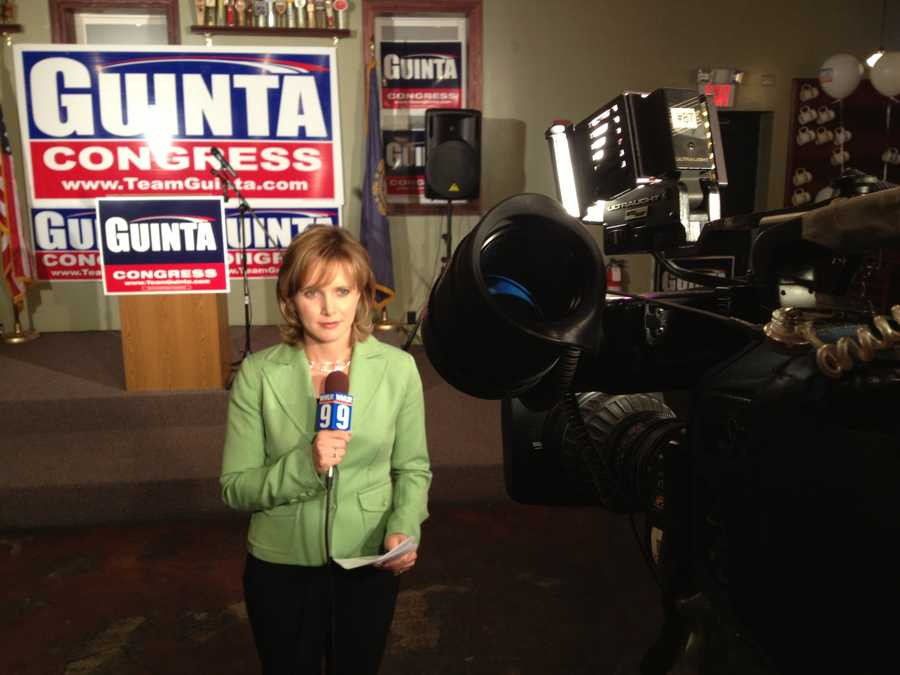 Heather Hamel at Frank Guinta's headquarters.