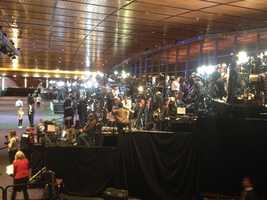 Risers at Mitt Romney's event in Boston.
