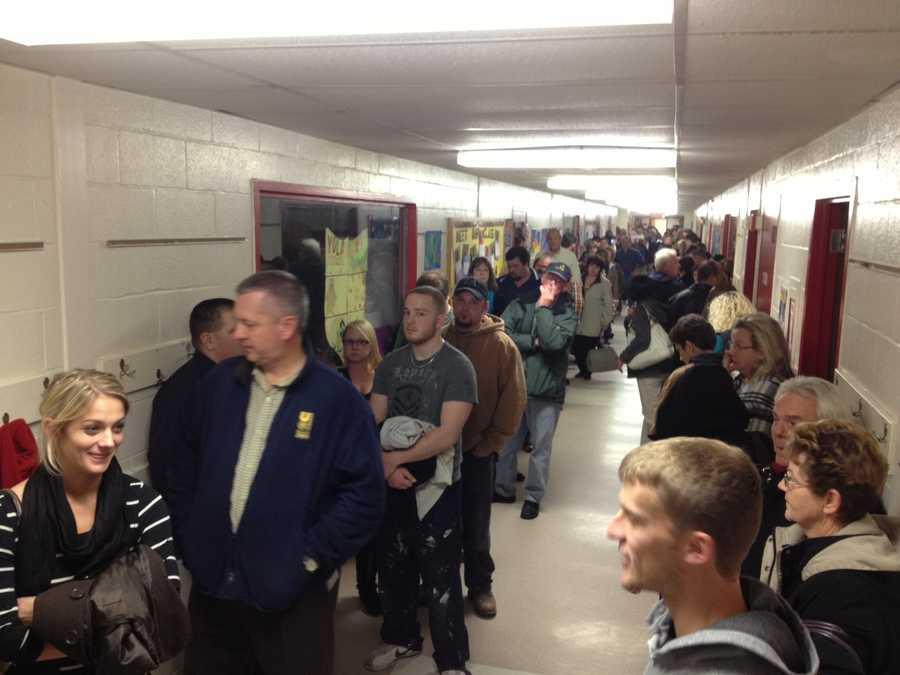 1 hour wait at Salem Elementary