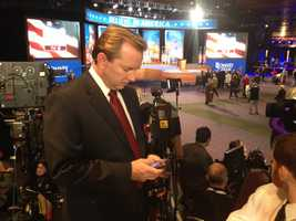 Josh McElveen at Romney HQ in Boston.