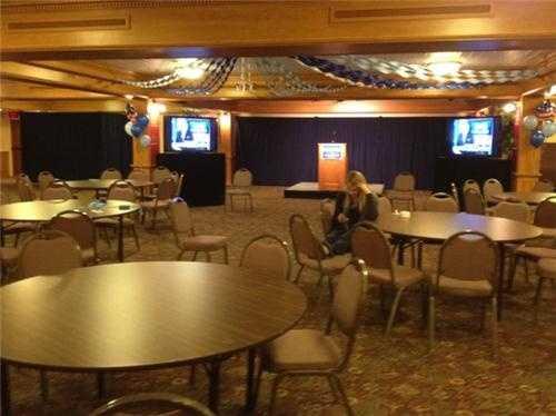 Room taking shape at Kuster HQ. staffer Molly Noyce taking a break.