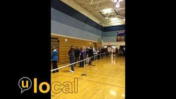 New Voter Line in Milford, NH