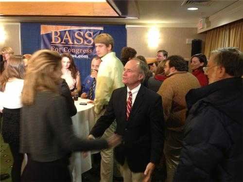 """Republican incumbent Charlie Bass does not win 8th term. Bass says """"not the best day for Republicans"""" Says Democratic challenger Annie Kuster """"earned victory""""."""