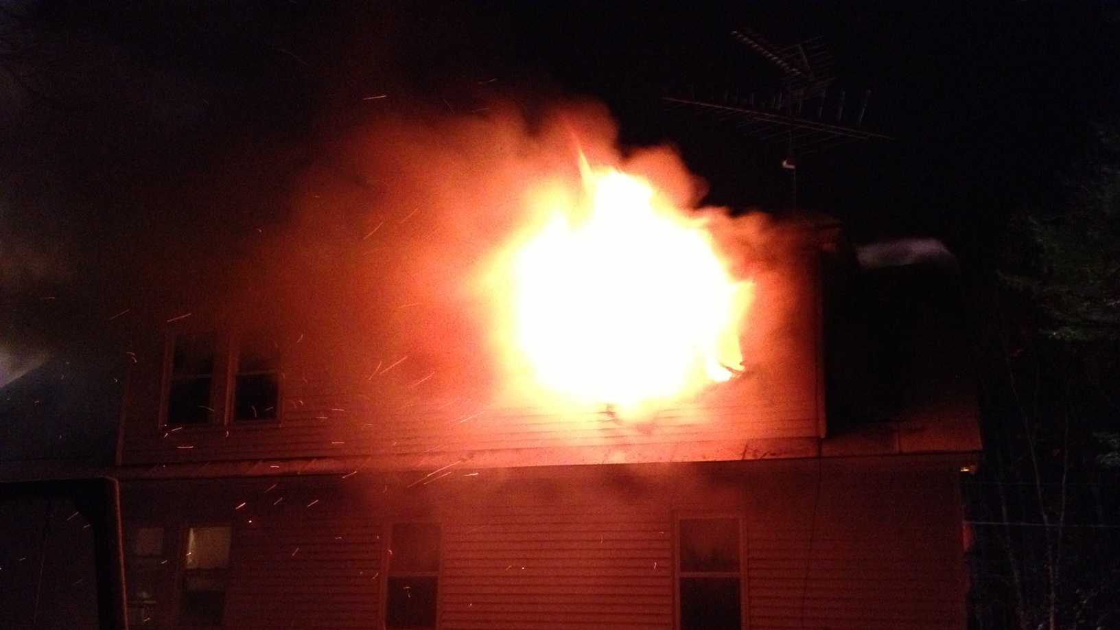 Amherst house fire