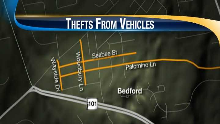 Bedford thefts from motor vehicles