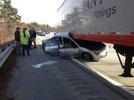 State police said the car accident occurred near Exit 3 on the Everett Turnpike in Nashua.