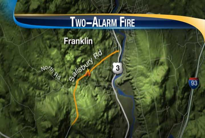 Franklin fire officials said a house on Salisbury Road caught fire two times Thursday.