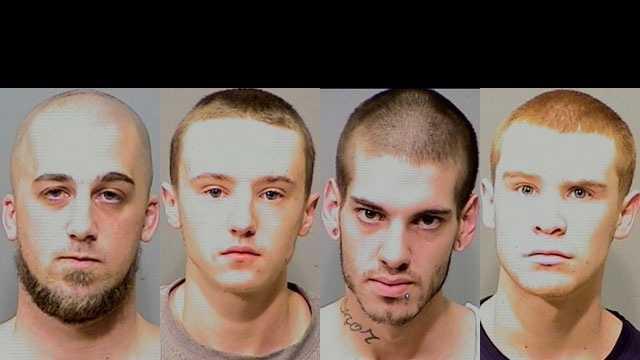 William Cadden, Zachary Noel, Jeffrey Rousseau and Matthew Snyder (Courtesy: Manchester Police)