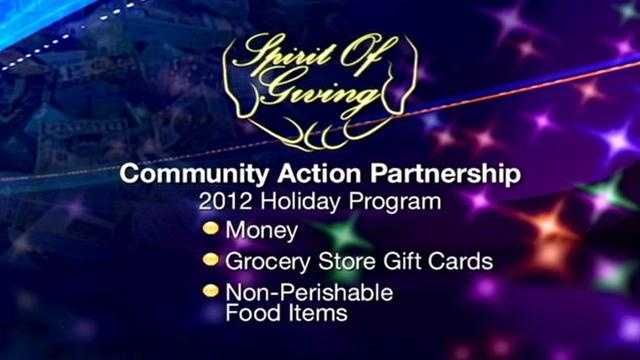 The Community Action Partnership in Dover provides food baskets as well as basic necessities for children.