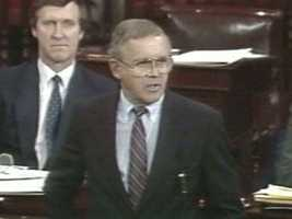 In 1987, Rudman served as the Republican leader during the nationally televised Iran-Contra hearings.Meanwhile in 1990, he engineered the nomination and Senate confirmation to put his longtime friend David Souter on the U.S. Supreme Court. Years later, Rudman would call this his proudest accomplishment.