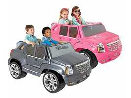 Get a Power Wheels vehicle for your child! Either the Barbie or Silver Cadillac Escalade editions will cost $269.99 (a savings of $150).