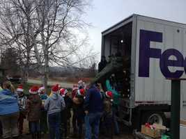 FedEx plays a big part in the program by delivering the trees to more than 60 military bases.