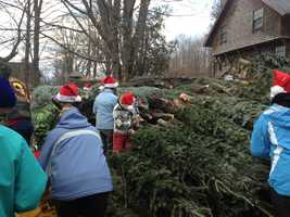 It is all part of the Trees for Troops program.
