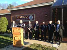 Authorities held a news conference in Plaistow on Nov. 29, 2012, the day after the arrests. Jim Reams said the couple may not return to New Hampshire from Florida until next week.
