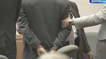 Webster was then taken away from the courtroom in handcuffs.