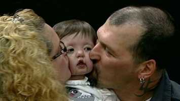 No. 11: Parents celebrated the life of their 17-month-old, who was given just one month to live. Click here to watch the video.
